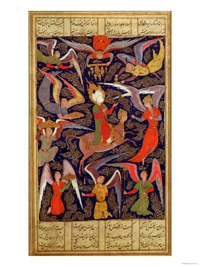 The Ascension of the Prophet Mohammed, Persian--Giclee Print