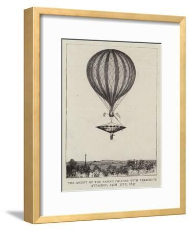 The Ascent of the Nassau Balloon with Parachute Attached, 24 July 1837