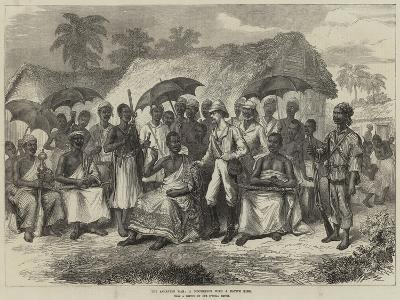 The Ashantee War, a Conference with a Native King--Giclee Print