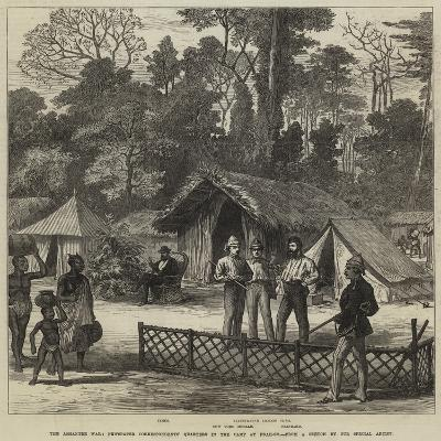 The Ashantee War, Newspaper Correspondents' Quarters in the Camp at Prah-Su--Giclee Print