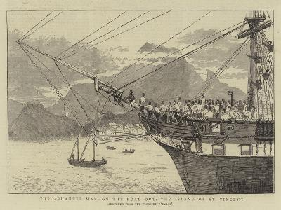 The Ashantee War, on the Road Out, the Island of St Vincent--Giclee Print