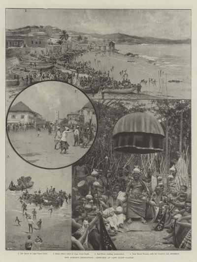 The Ashanti Expedition, Sketches at Cape Coast Castle-Joseph Holland Tringham-Giclee Print