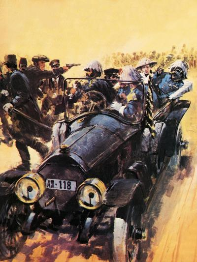 The Assassination of Archduke Franz Ferdinand.-Graham Coton-Giclee Print
