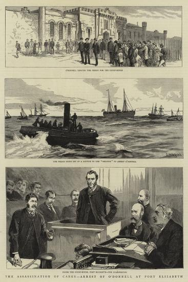 The Assassination of Carey, Arrest of O'Donnell at Port Elizabeth--Giclee Print