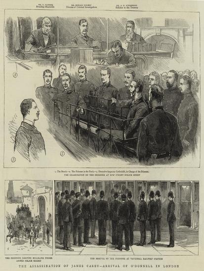 The Assassination of James Carey, Arrival of O'Donnell in London--Giclee Print