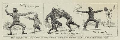 The Assault at Arms Given by the Oxford University Fencing Club at the Clarendon Rooms--Giclee Print