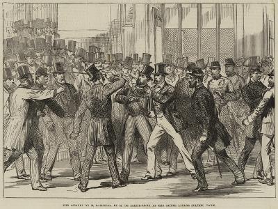 The Assault on M Gambetta by M De Sainte-Croix at the Sainte Lazare Station, Paris--Giclee Print