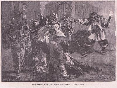 The Assault on Sir John Coventry-Walter Stanley Paget-Giclee Print