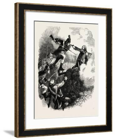 The Assault on Stony Point; the Battle of Stony Point, American Revolutionary War, USA, 1870S--Framed Giclee Print