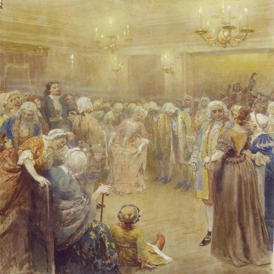 The Assembly at the Time of Peter I-Klavdi Vasilyevich Lebedev-Giclee Print