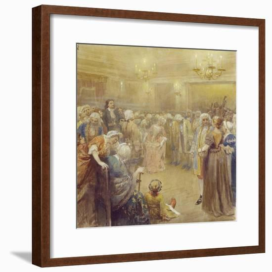 The Assembly at the Time of Peter I-Klavdi Vasilyevich Lebedev-Framed Giclee Print