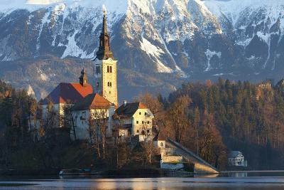 The Assumption of Mary Pilgrimage Church on Lake Bled, Bled, Slovenia, Europe-Miles Ertman-Photographic Print