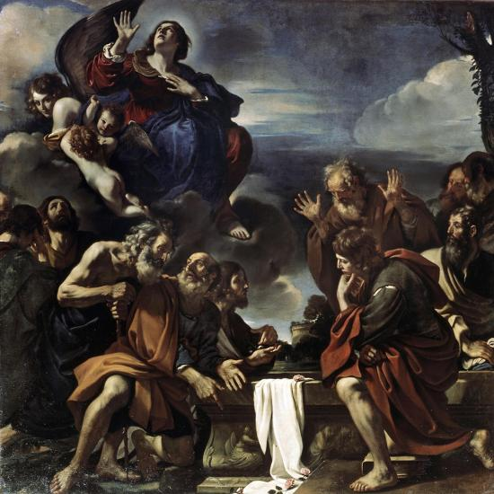 The Assumption of the Blessed Virgin Mary, 1623-Guercino-Giclee Print