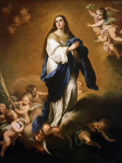 The Assumption of the Blessed Virgin Mary, Between 1645 and 1655-Bartolom? Esteban Murillo-Giclee Print
