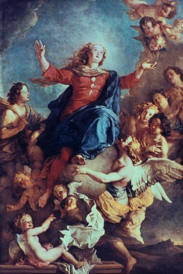 The Assumption of the Virgin, 17th-Early 18th Century-Charles de La Fosse-Giclee Print