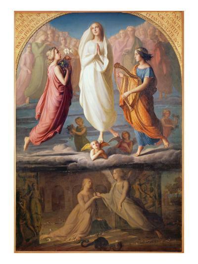 The Assumption of the Virgin, 1844-Louis Janmot-Giclee Print