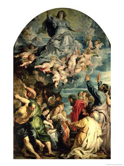The Assumption of the Virgin Altarpiece, 1611/14-Peter Paul Rubens-Giclee Print