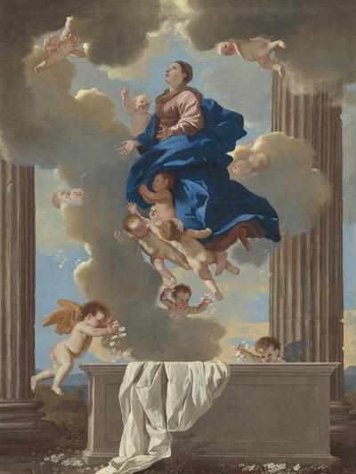 The Assumption of the Virgin, c.1630-32-Nicolas Poussin-Giclee Print