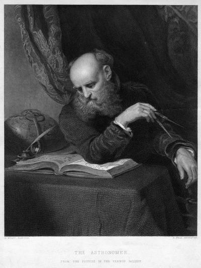 The Astronomer, 19th Century-R Bell-Giclee Print