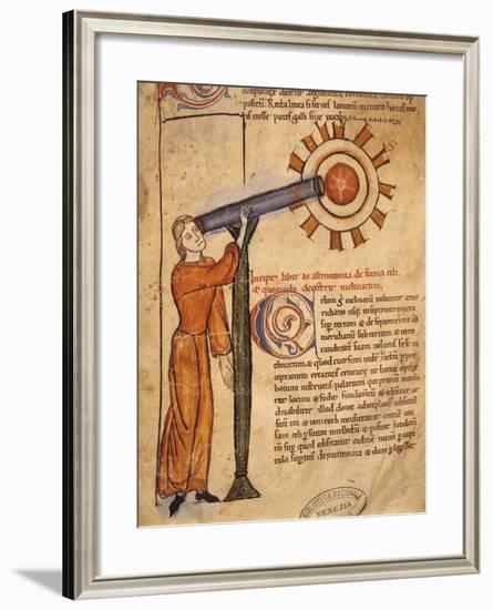 The Astronomer, Miniature from the Treaty of Astrology, Latin Manuscript--Framed Giclee Print