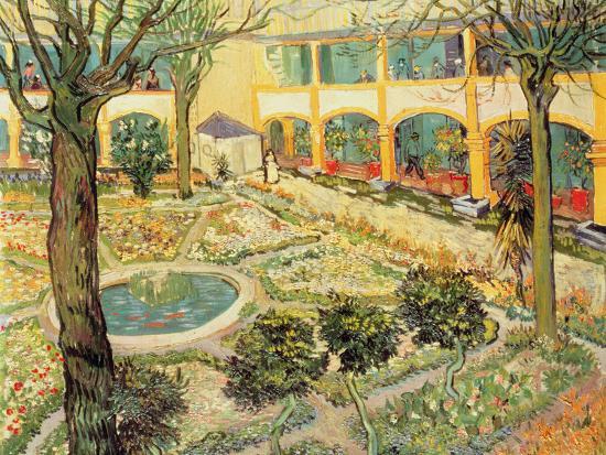 The Asylum Garden at Arles, c.1889-Vincent van Gogh-Giclee Print