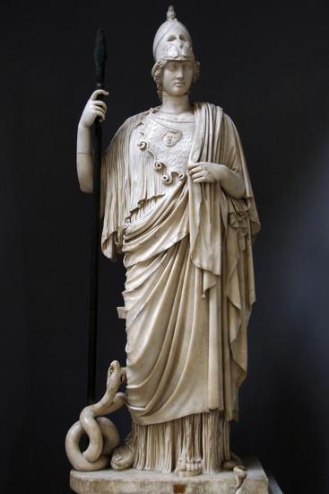 The Athena Giustiniani. Roman Copy of a Greek Statue of Pallas Athena. 2nd Century--Photographic Print