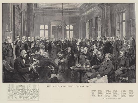 The Athenaeum Club, Ballot Day-Thomas Walter Wilson-Giclee Print