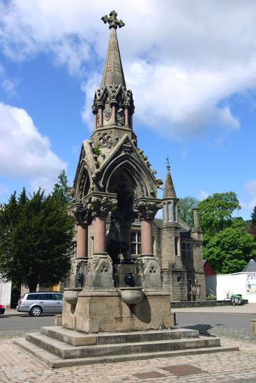 The Atholl Memorial Fountain, Dunkeld, Perthshire, Scotland-Peter Thompson-Photographic Print
