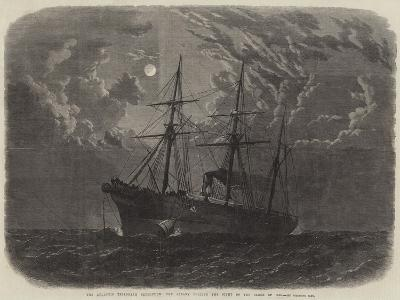 The Atlantic Telegraph Expedition, the Albany Buoying the Bight of the Cable of 1865--Giclee Print