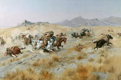 The Attack, 1897-Charles Marion Russell-Giclee Print