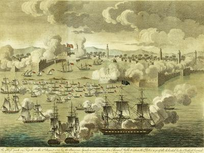 The Attack Made on Tripoli on the 3rd of August 1804, by the Commodore Edward Preble, 1805-John Bachman-Giclee Print