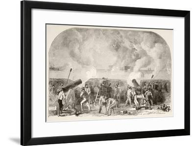 The Attack on Fort Sumter--Framed Giclee Print