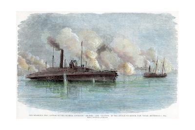 The Attack on Sabine Pass, Texas, American Civil War, 8 September 1863--Giclee Print