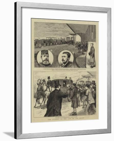 The Attempt on the Life of the Queen--Framed Giclee Print