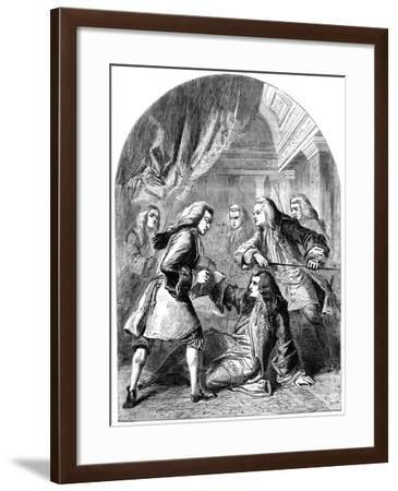 The Attempted Assassination of Robert Harley (1661-172), 18th Century-TE Nicholson-Framed Giclee Print