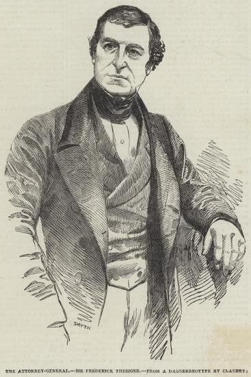 The Attorney-General, Sir Frederick Thesiger--Giclee Print