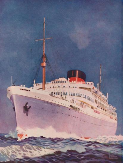 'The Attractive Colouring of the Union Castle liner Stirling Castle', 1937-Unknown-Giclee Print