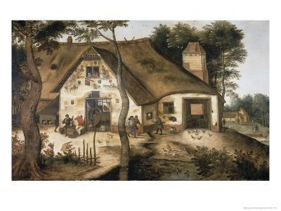 The Auberge Saint Michel-Pieter Bruegel the Elder-Giclee Print