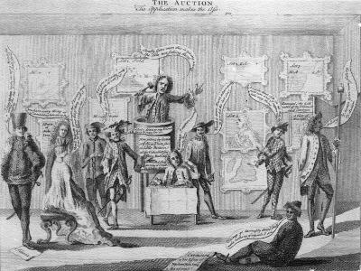 The Auction, by Matthew Darly, Circa 1756--Giclee Print