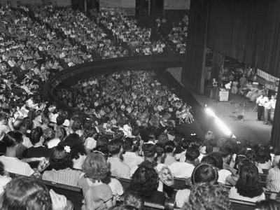 The Audience at the Grand Ole Opry, the Stage on the Right-Ed Clark-Photographic Print