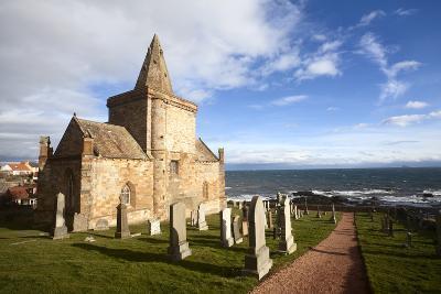 The Auld Kirk and Kirkyard on the Fife Coast at St. Monans, Fife, Scotland, United Kingdom, Europe-Mark Sunderland-Photographic Print