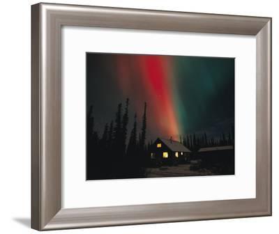 The Aurora Borealis Colors the Sky-Michael S^ Quinton-Framed Photographic Print