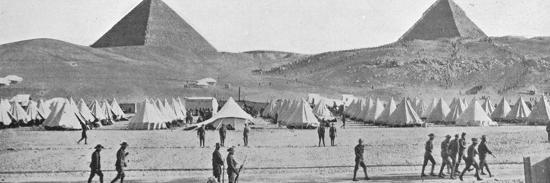 'The Australian troops in Egypt encamped near the Pyramids', 1914-Unknown-Photographic Print