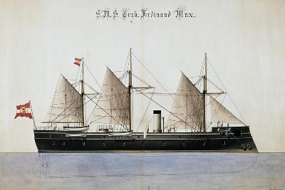 The Austrian Battleship the Erzherzog Ferdinand Max--Giclee Print