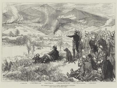 The Austrian Campaign in Bosnia, Bombardment of Serajevo-Charles Robinson-Giclee Print