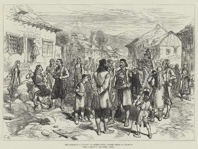 The Austrian Occupation of Herzegovina, Street Scene in Grahovo-Charles Robinson-Giclee Print
