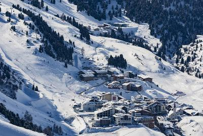 The Austrian Skiing Village of Obergurgl Covered in Winter Snow at the End of the Otztal Valley-Garry Ridsdale-Photographic Print