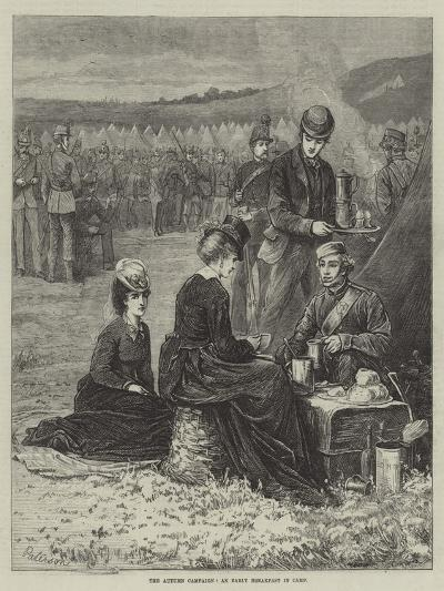 The Autumn Campaign, an Early Breakfast in Camp--Giclee Print