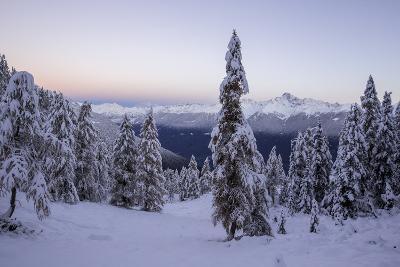 The Autumn Snowy Landscape, Casera Lake, Livrio Valley, Orobie Alps, Valtellina, Lombardy, Italy-Roberto Moiola-Photographic Print