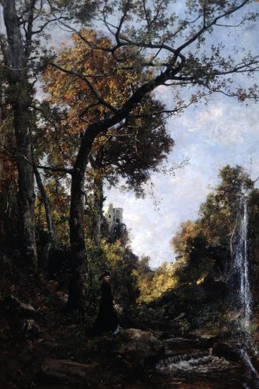 The Autumn Walk, 1869-Emmanuel Lansyer-Giclee Print